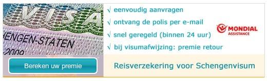 Reisverzekering voor Schengenvisum
