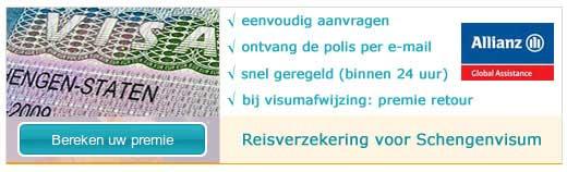 Schengen verzekering afsluiten