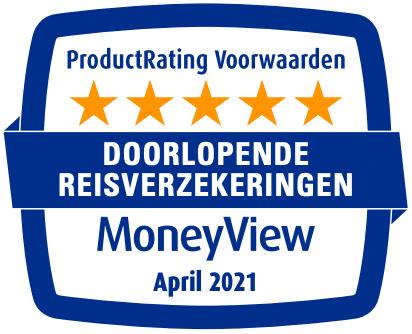 Doorlopende Reisverzekering Premium krijgt 5 sterren van Moneyview